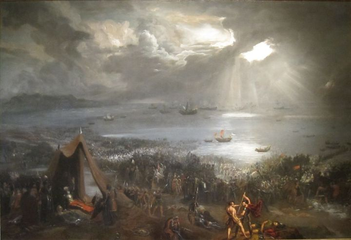 1200px-'Battle_of_Clontarf',_oil_on_canvas_painting_by_Hugh_Frazer,_1826.jpg
