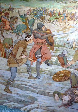 Battle_of_Largs_(detail),_1263
