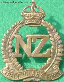 DC168, The First New Zealand Expeditionary Force cap badge, 35 x 45mm.JPG